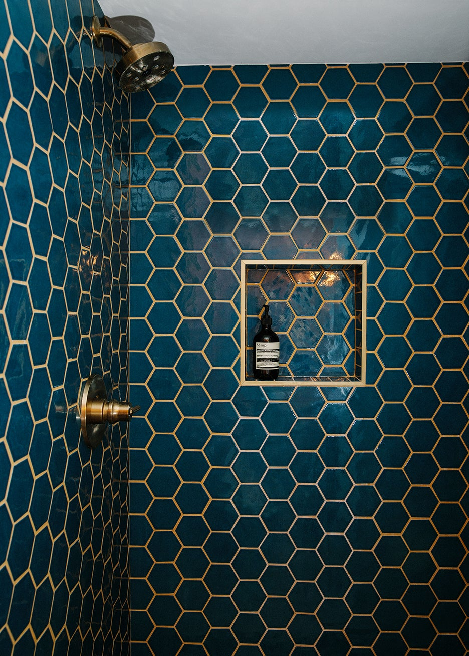 blue shower