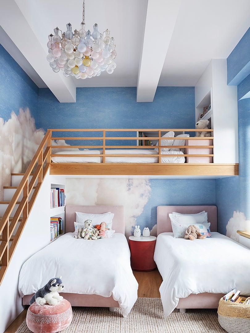 Cloud themed kids room