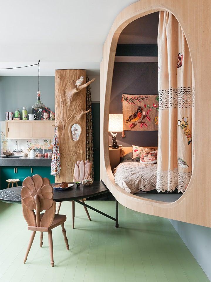 Forest inspired kids room
