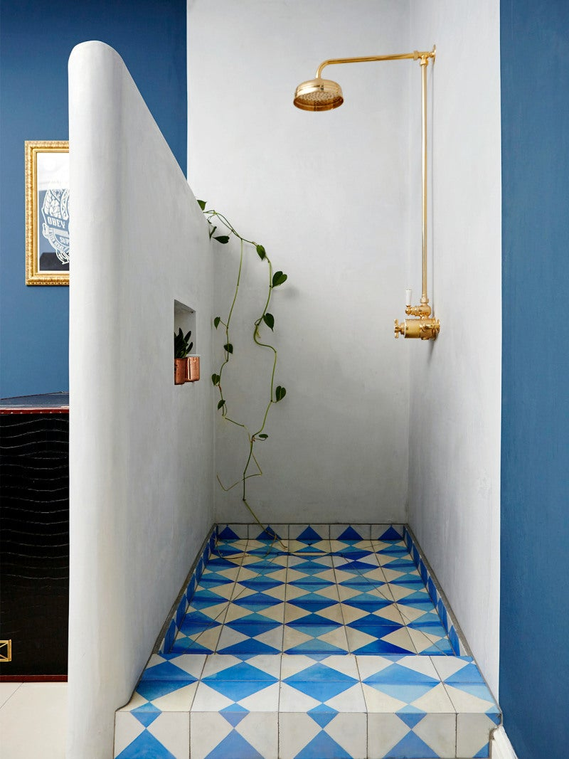 moroccan inspired shower