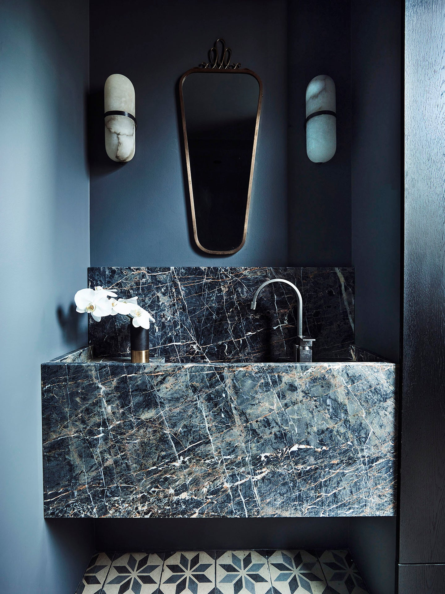 blue marble sink