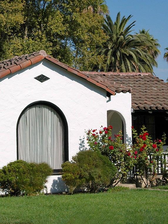 white spanish bungalow