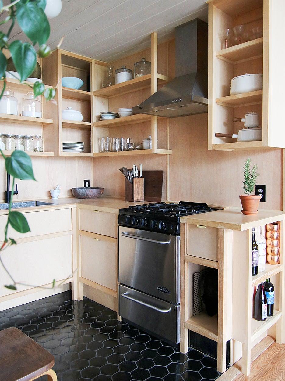 Small kitchen cabinets - plywood kitchen