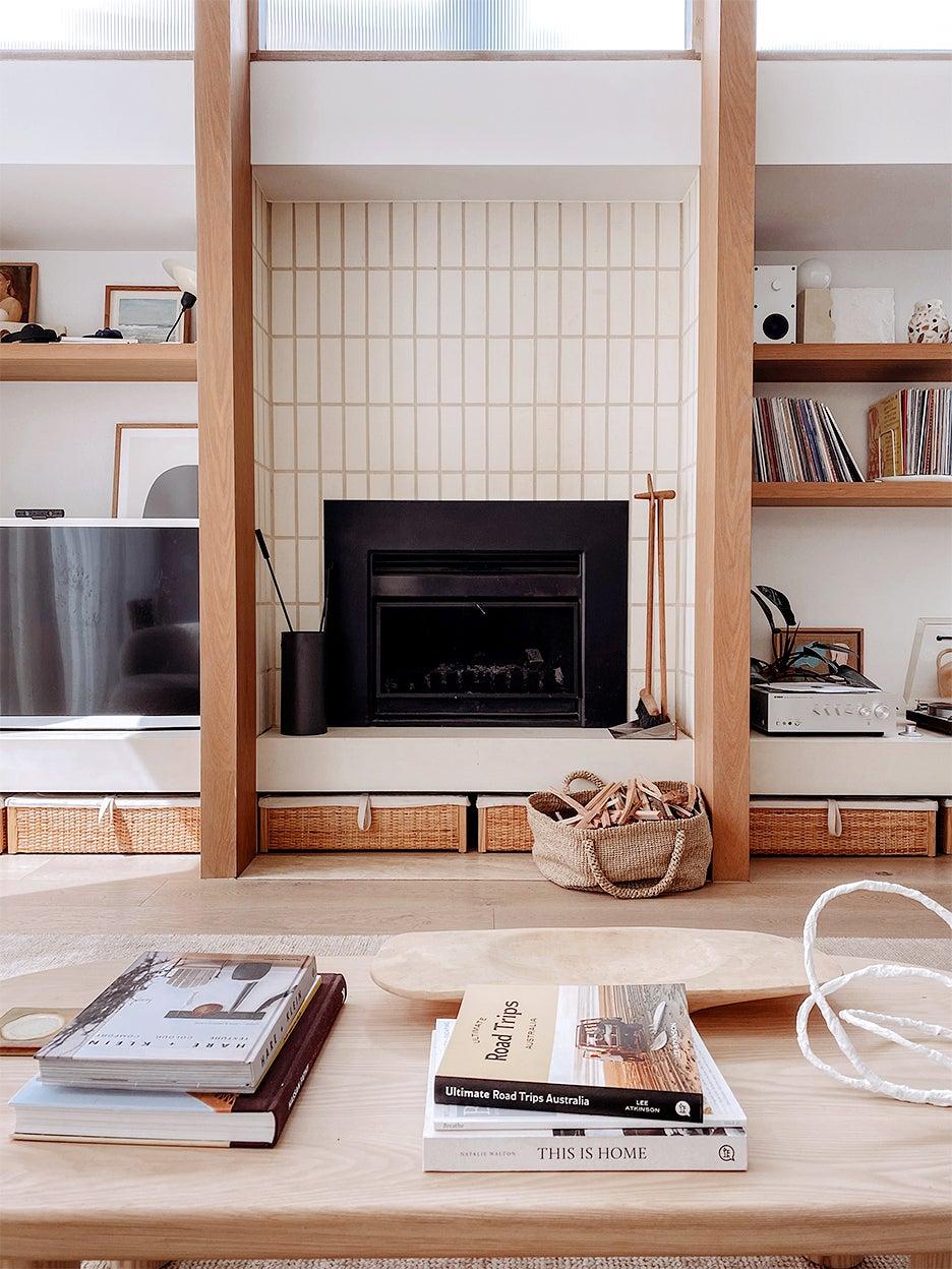 scandi white living room