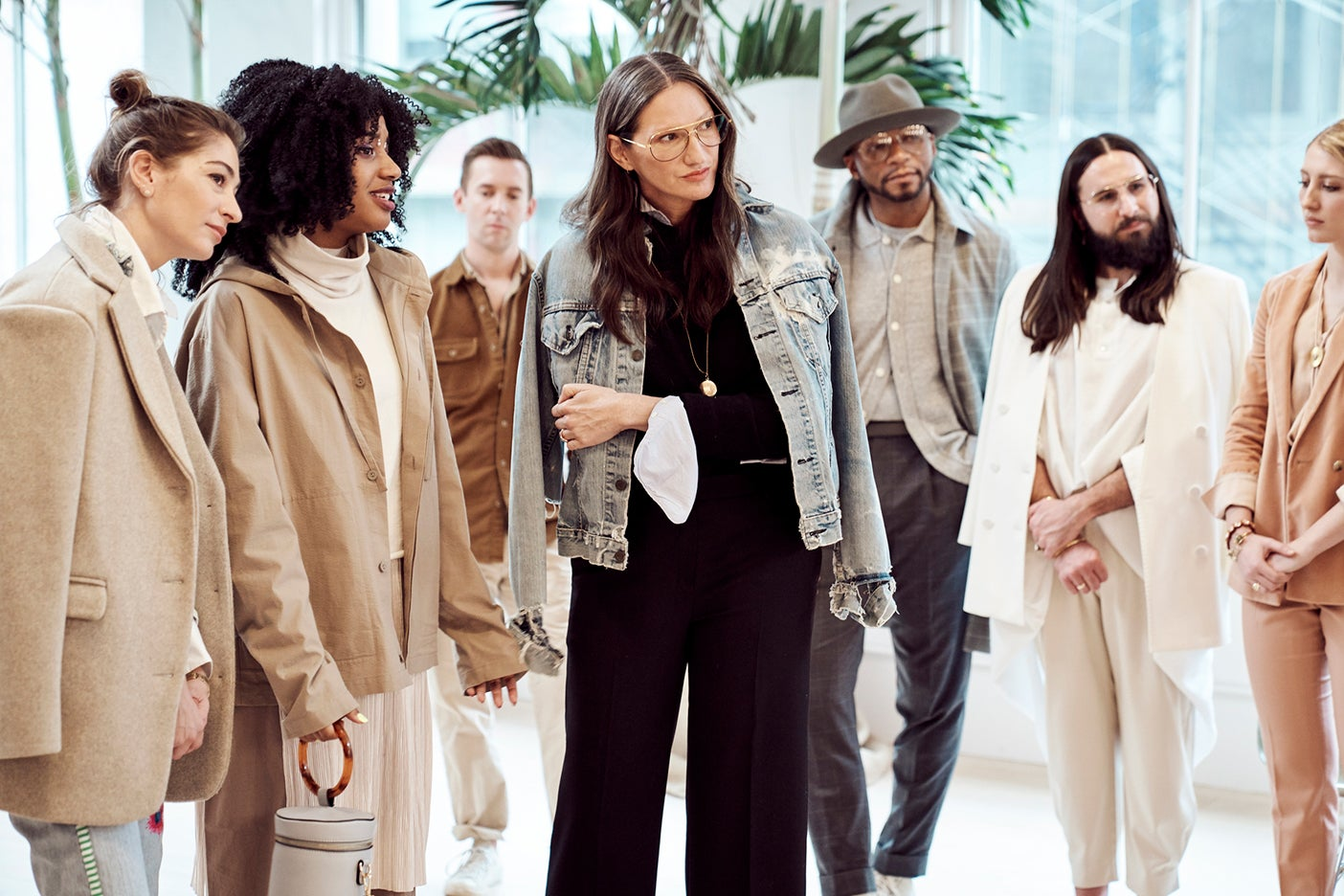 Jenna Lyons and contestants of her show