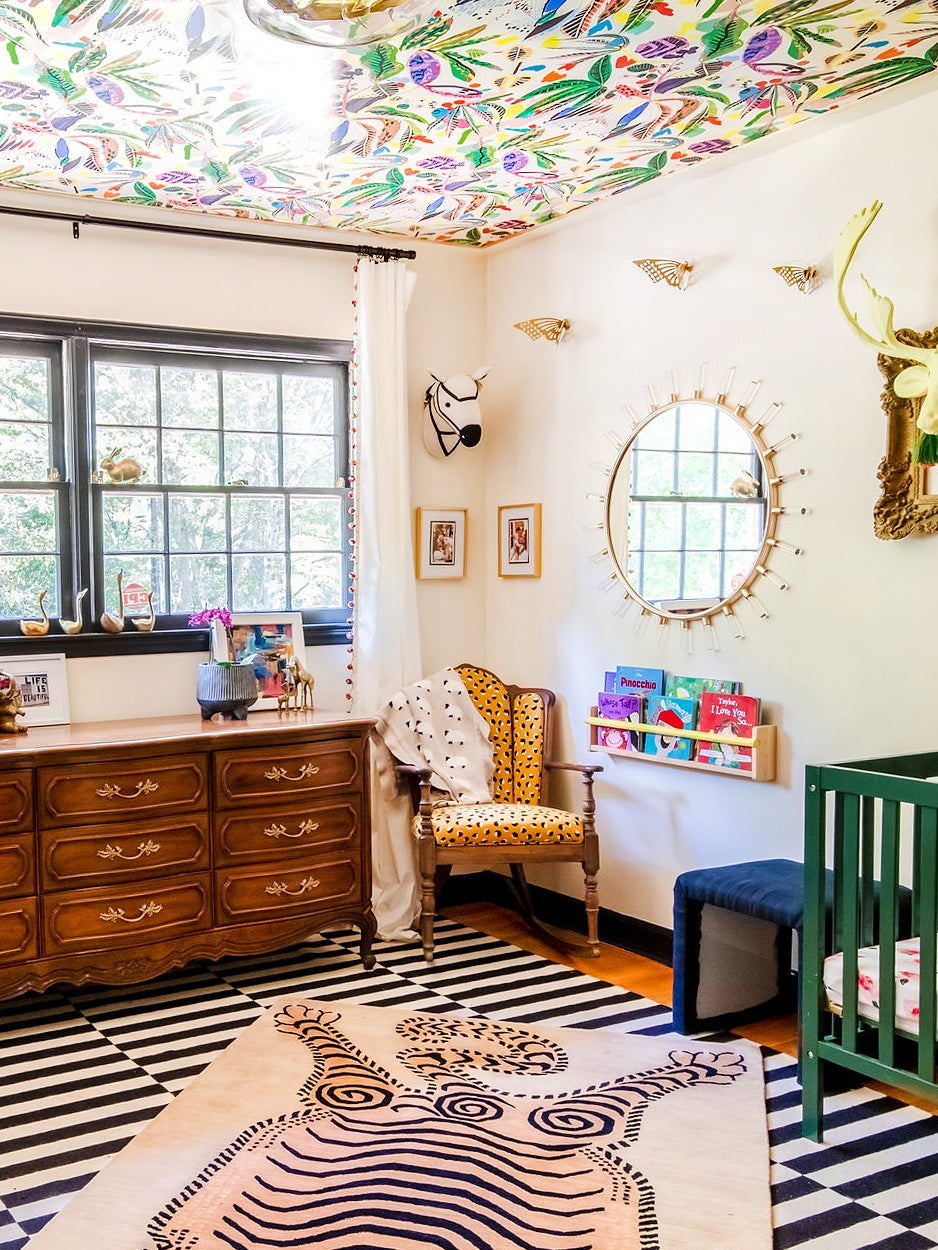 Nursery with green crib
