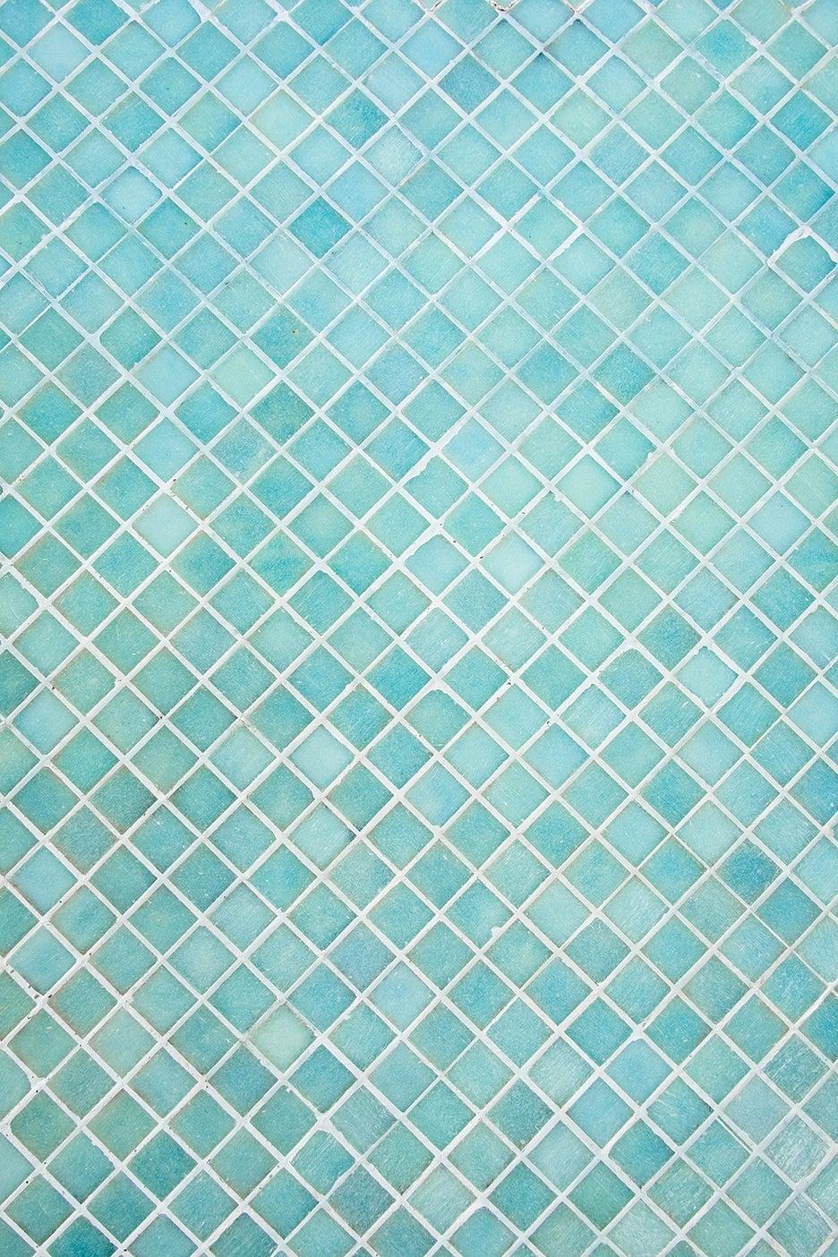 Pattern of blue square mosaic