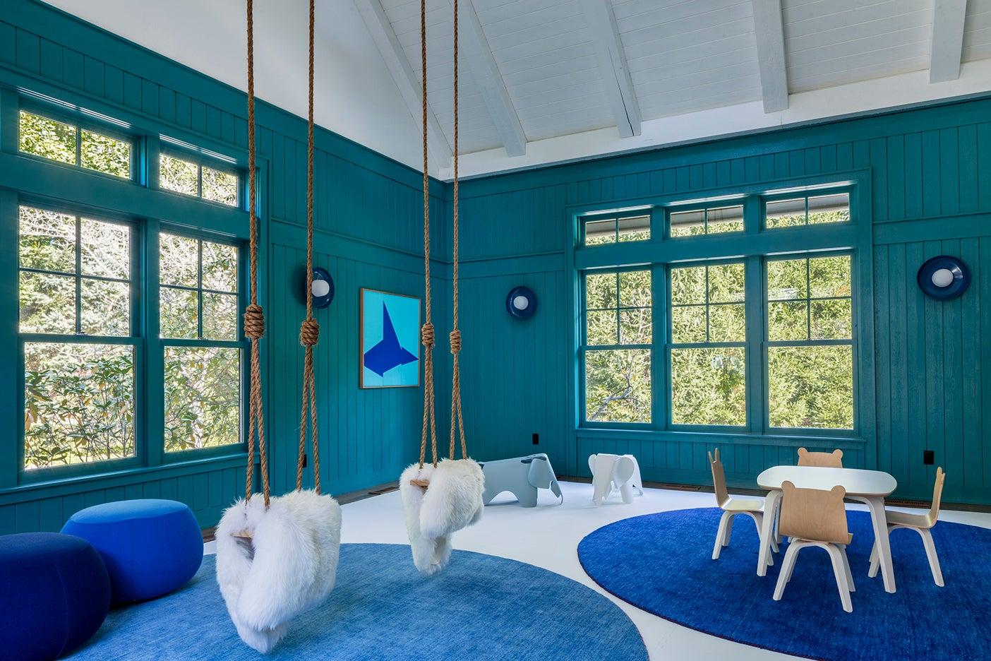 teal playroom