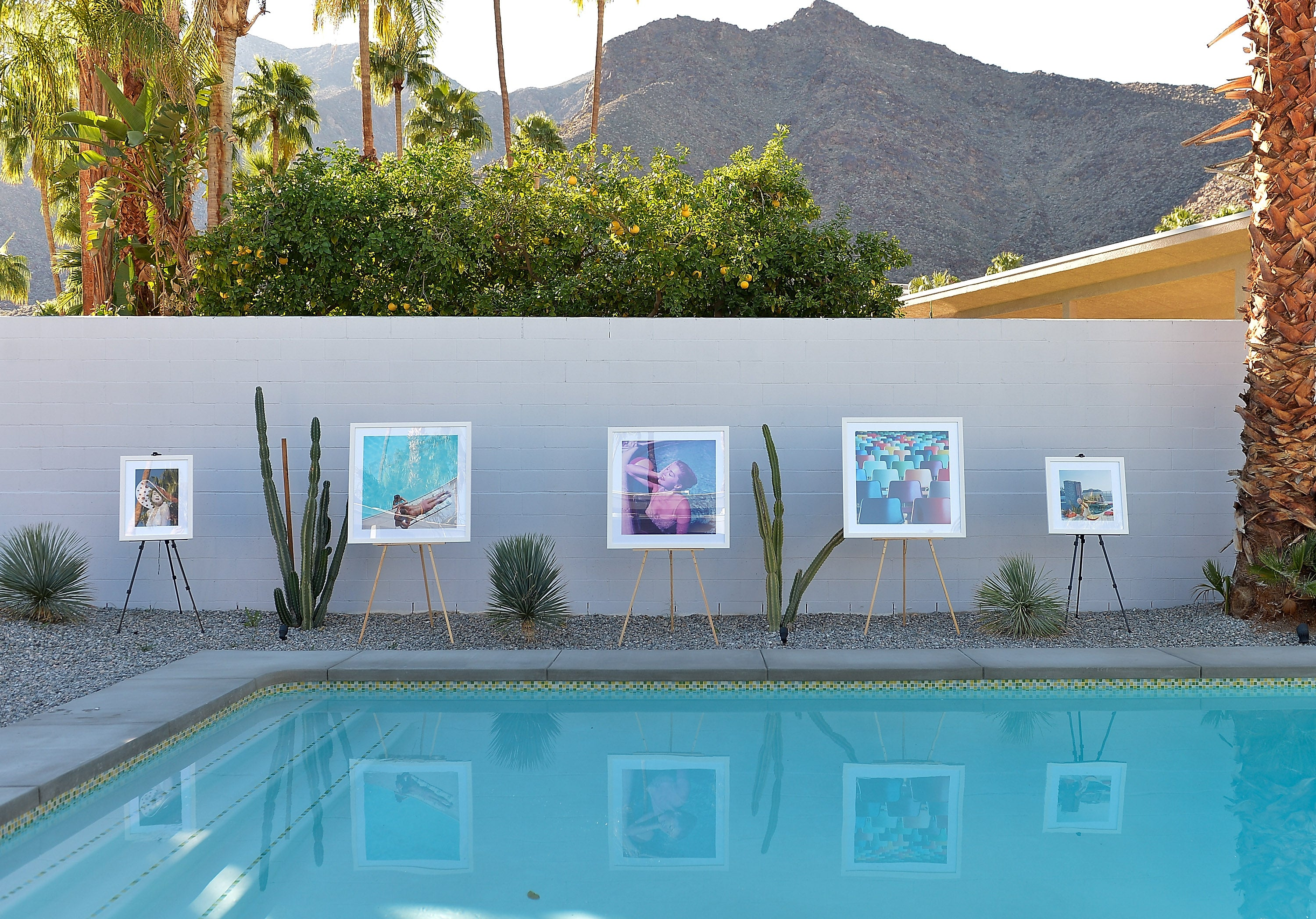 Photos.com And Laurel & Wolf Modernism Week Poolside Cocktail Party