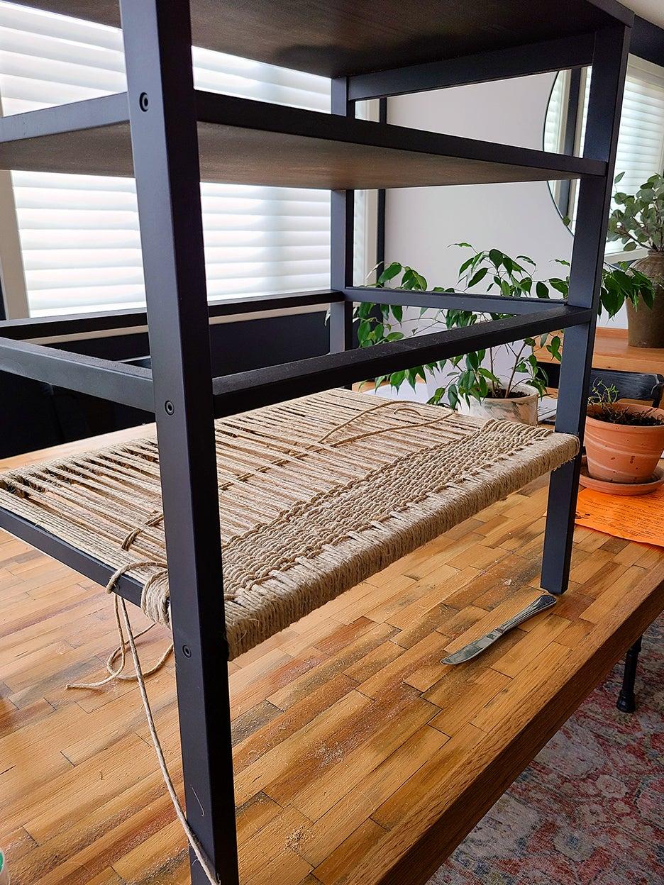 shelf cross weave