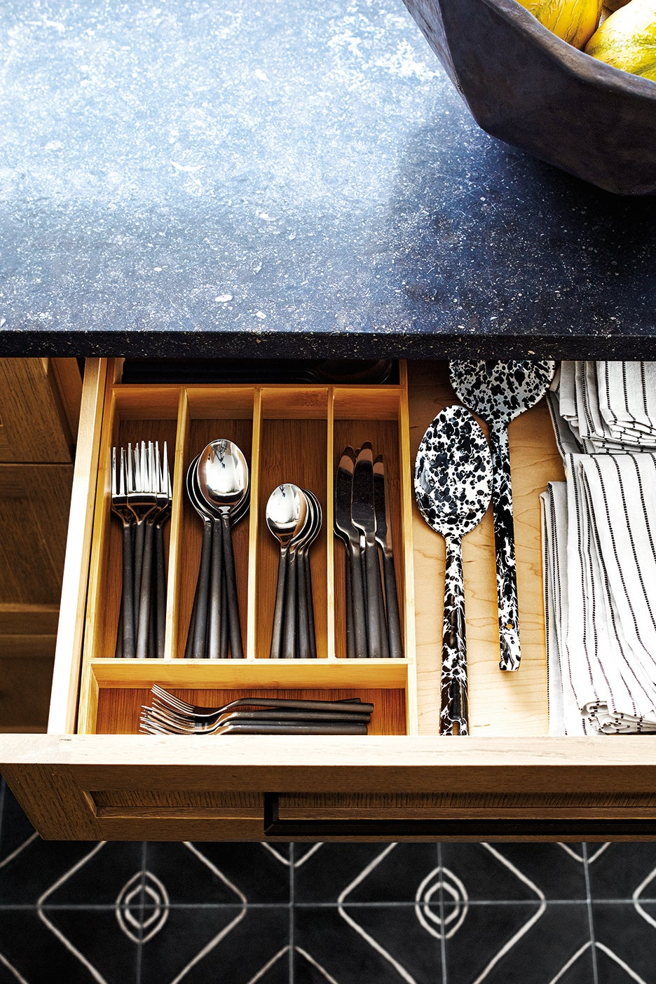 a kitchen drawer