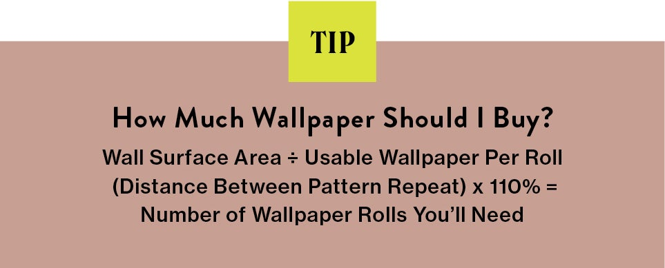 blurb on how much wallpaper to use
