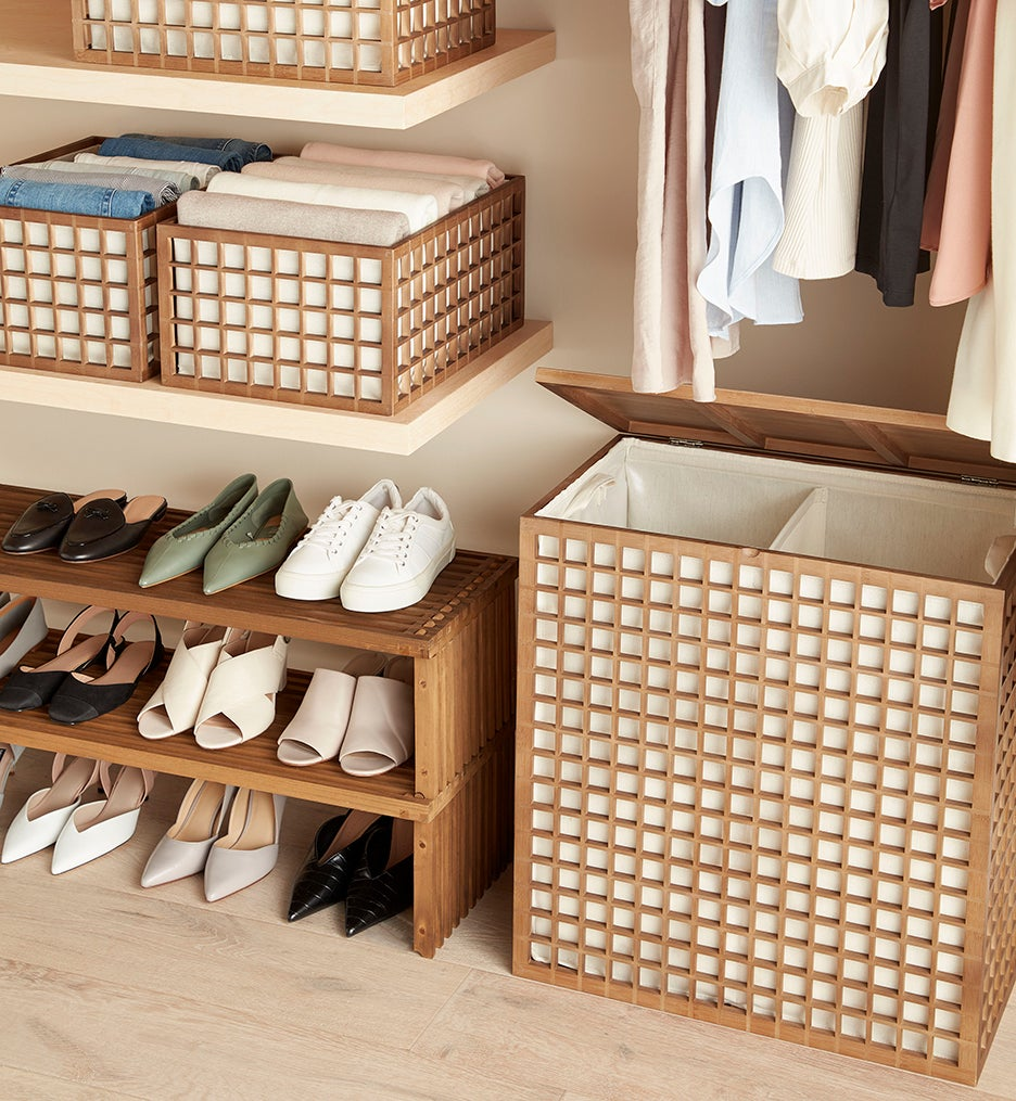 wooden clothing boxes