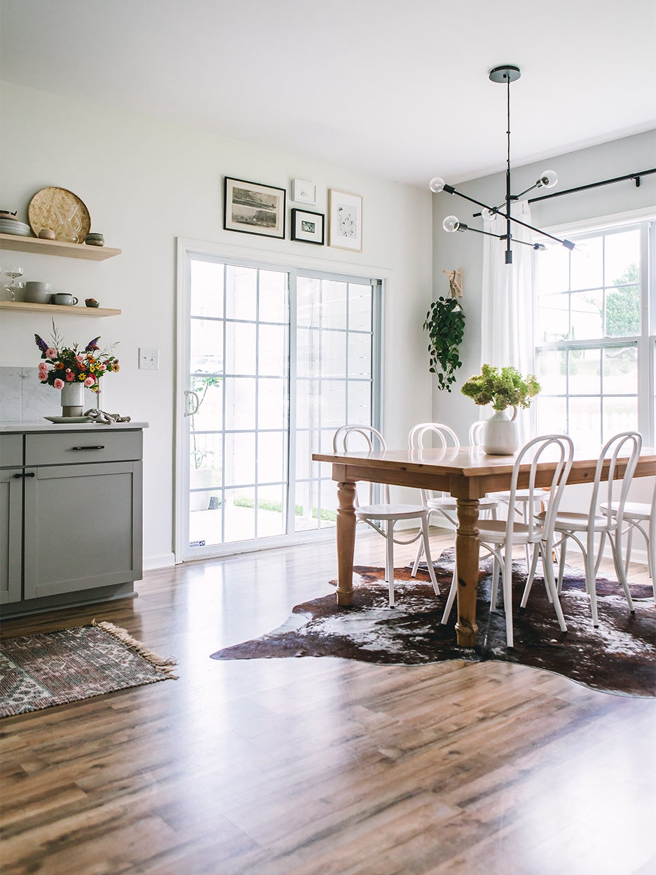 scandi inspired dining room