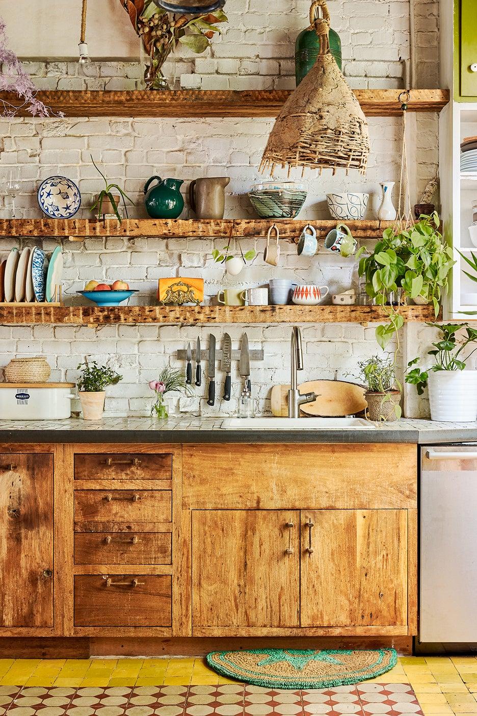pretty kitchen and counter