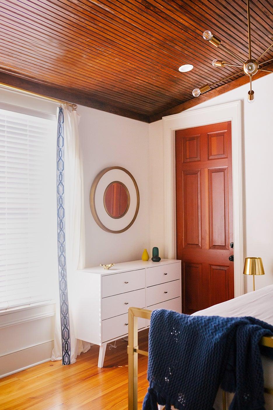 wood bedroom ceiling