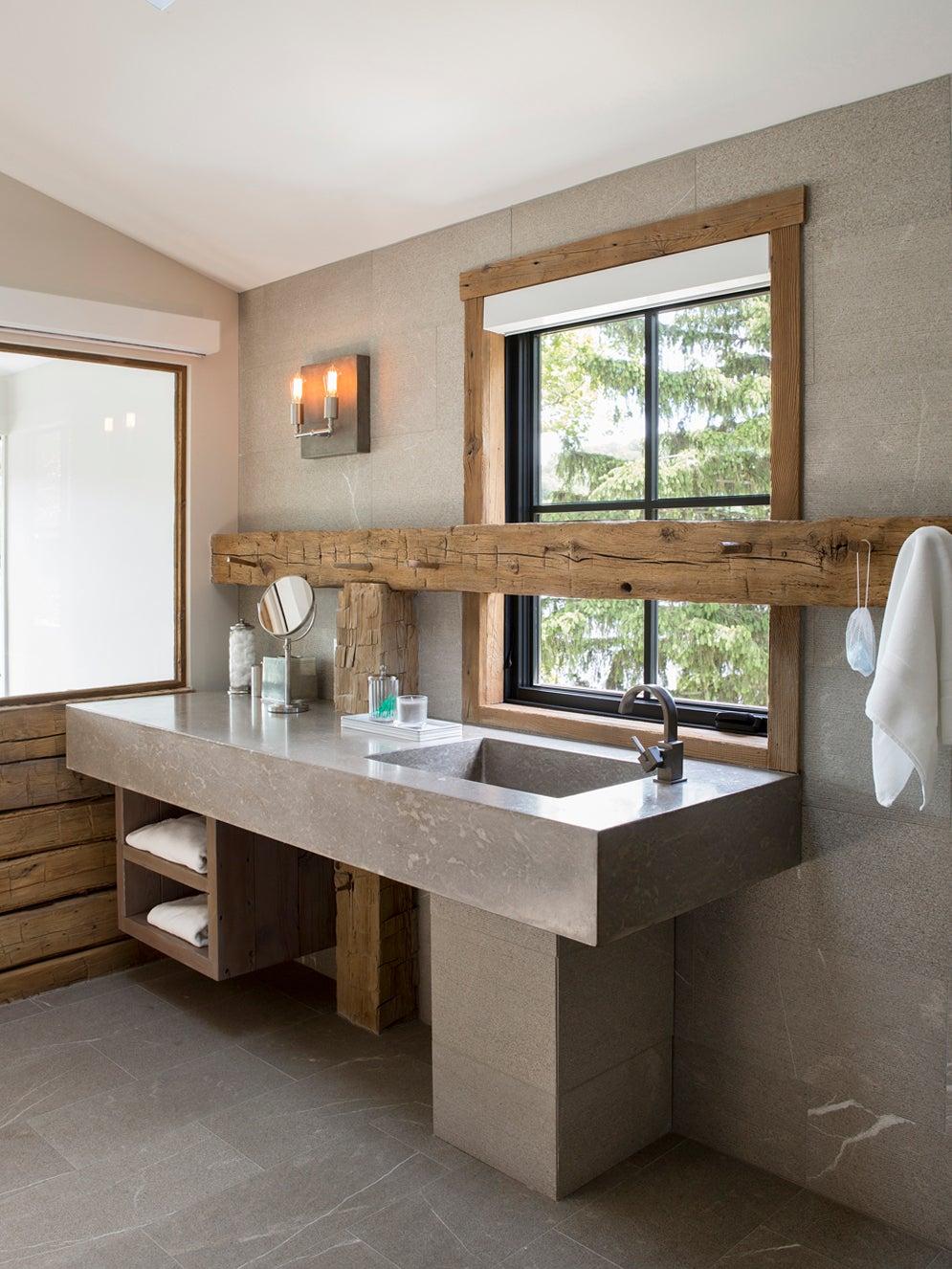 a bathroom vanity