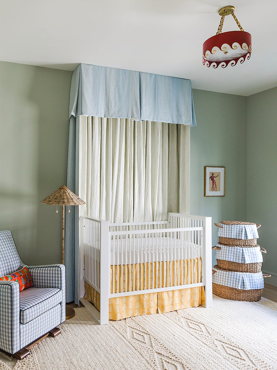 A Simple Swath of Fabric Took This Nursery From Plain to Special