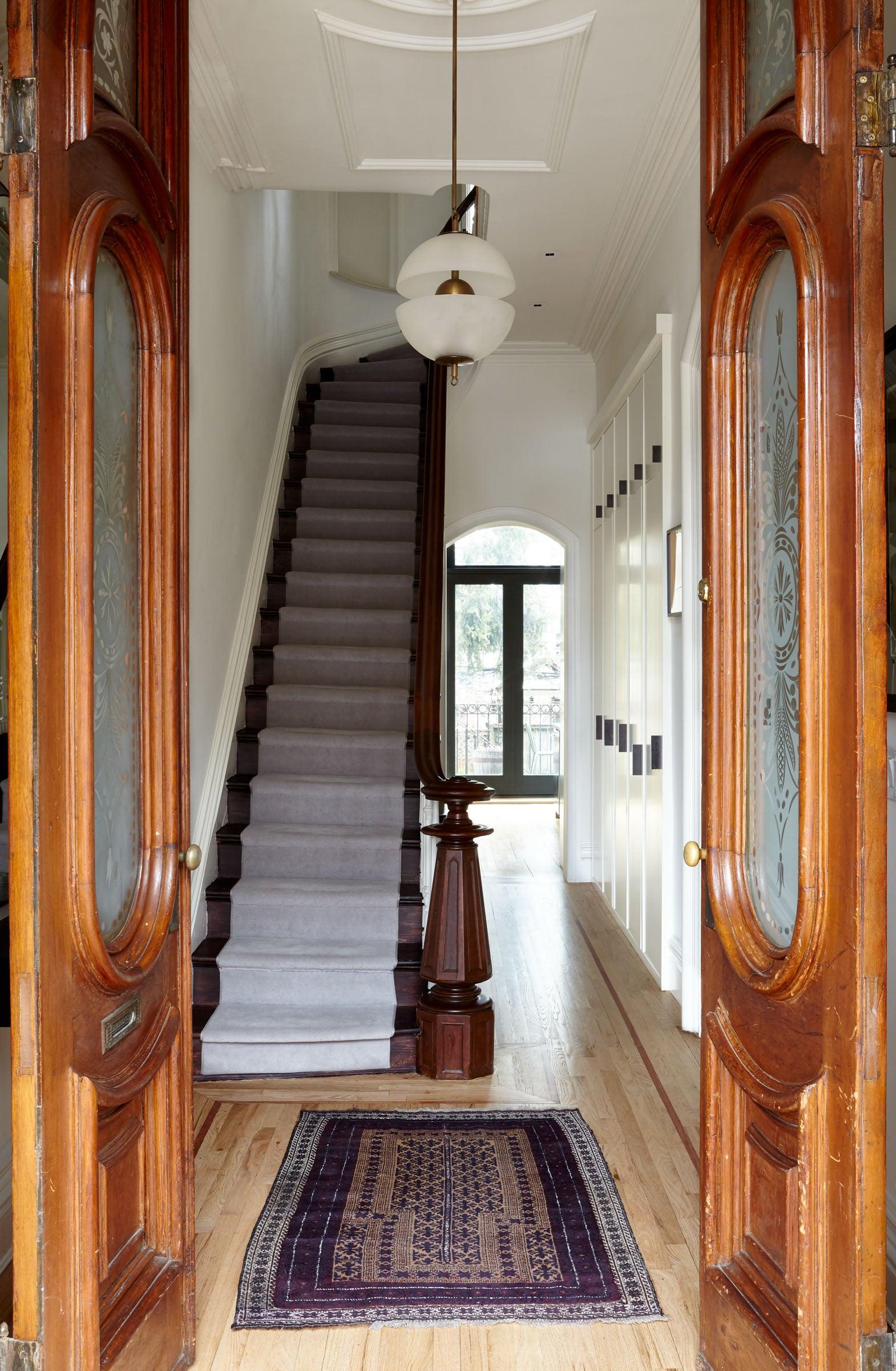 Brooklyn brownstone entryway renovation