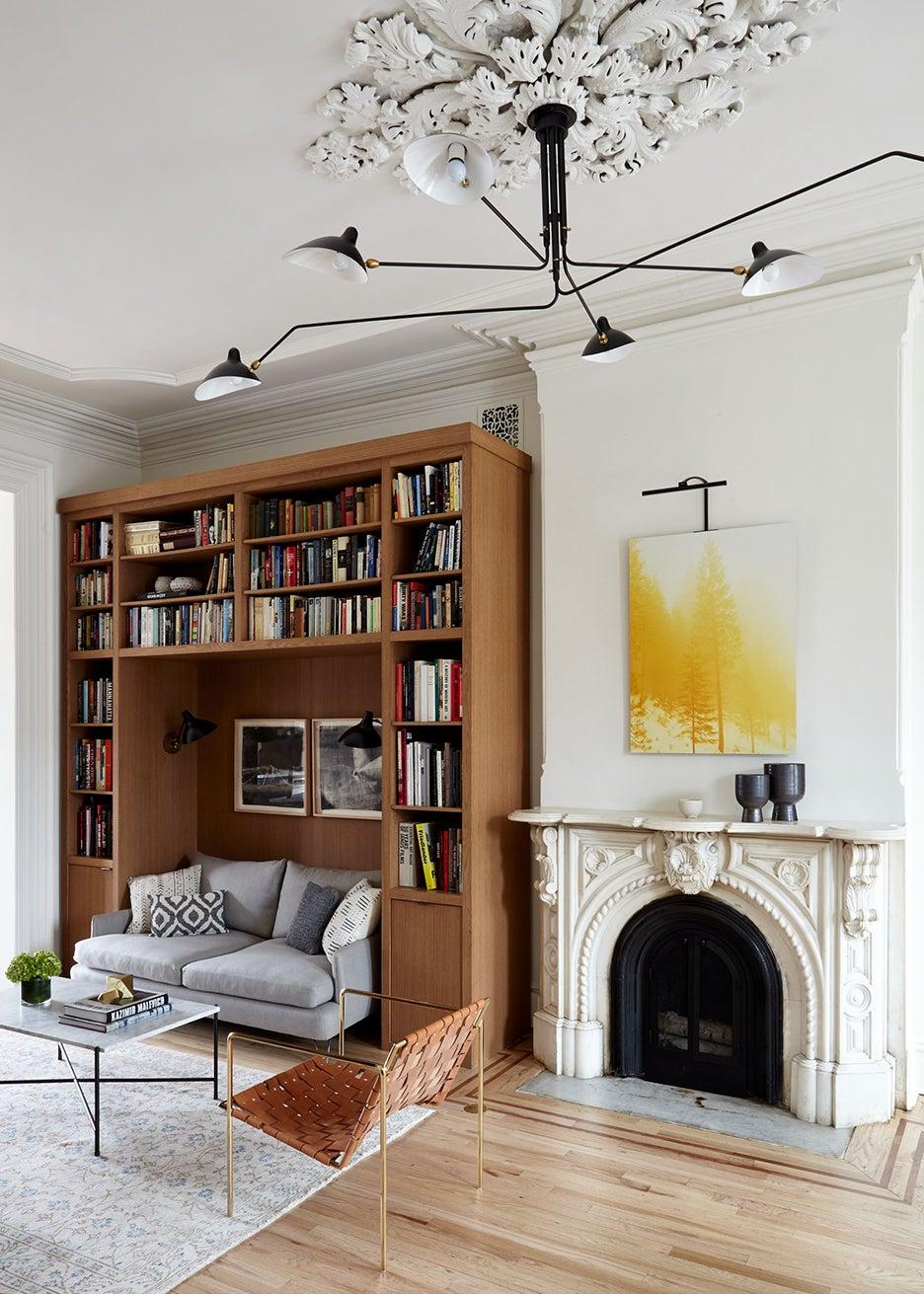 Brooklyn brownstone living room renovation