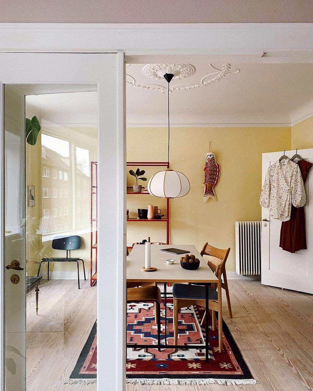 door looking into dining room