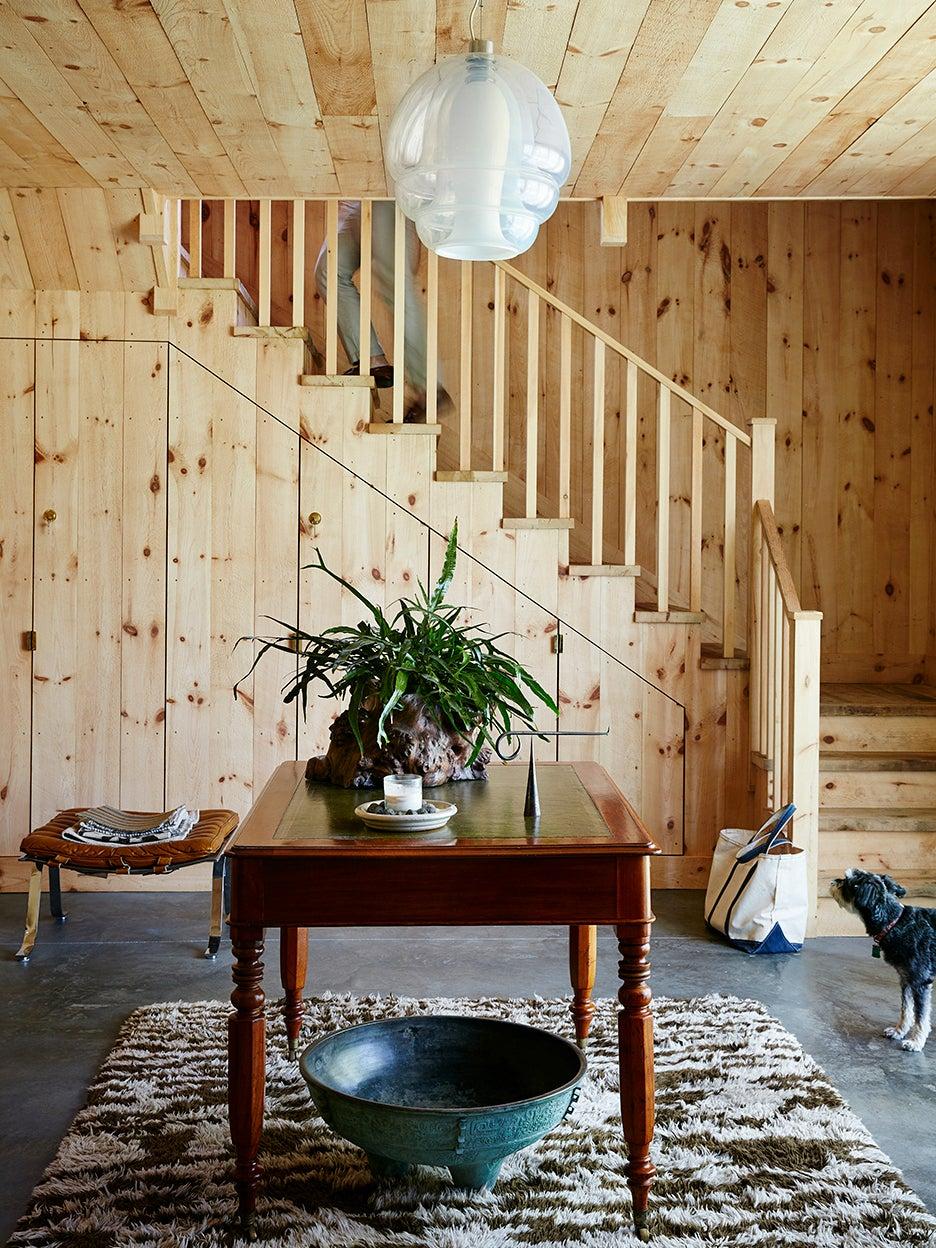 plywood entryway