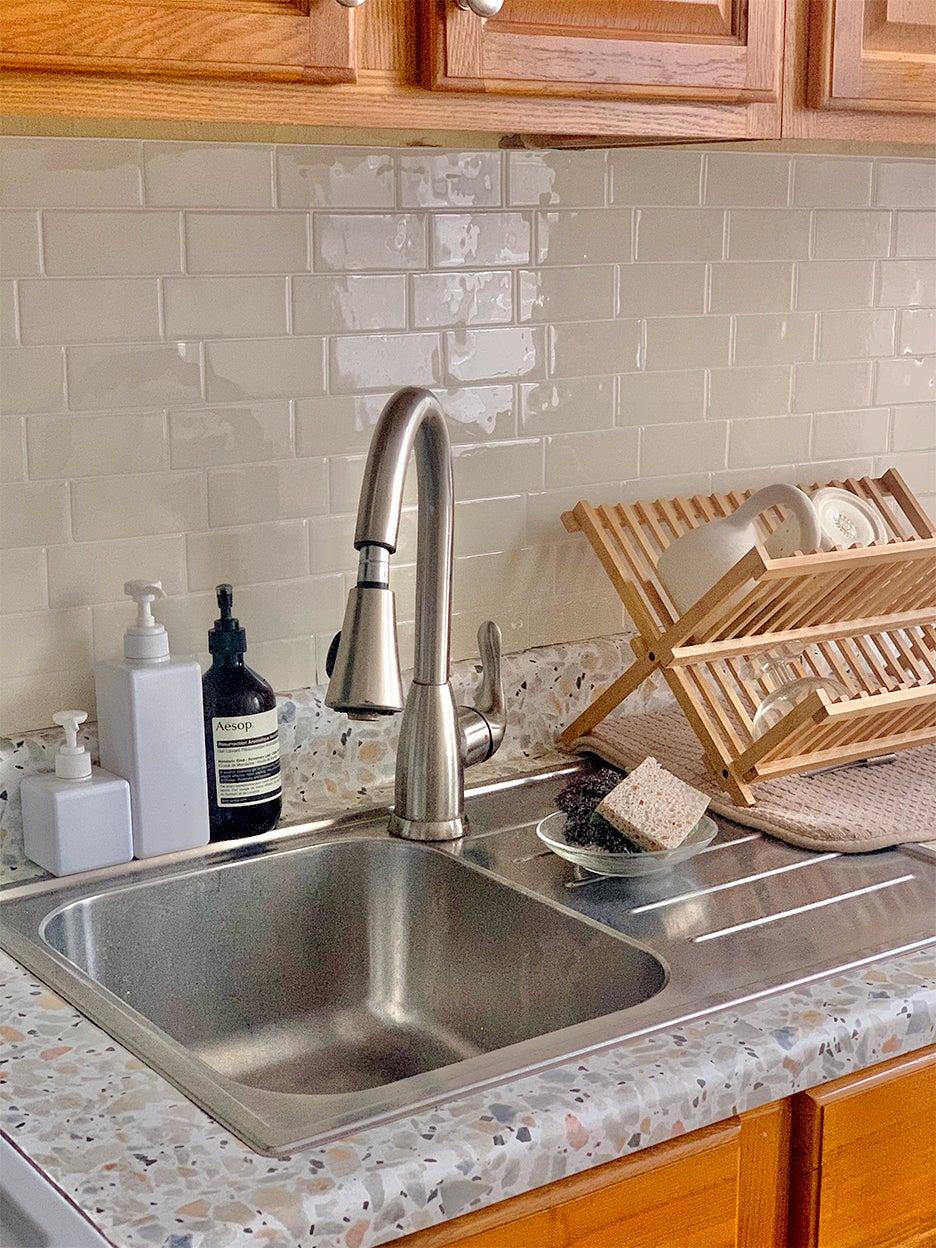 a kitchen countertop