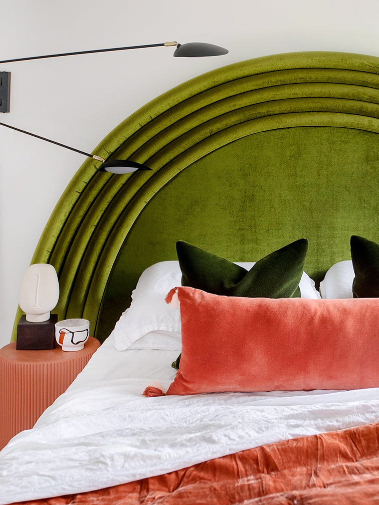 Pool Noodles Are the Secret Ingredient to This $300 Arched Headboard
