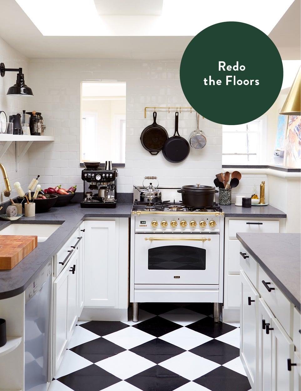 checkered kitchen floors
