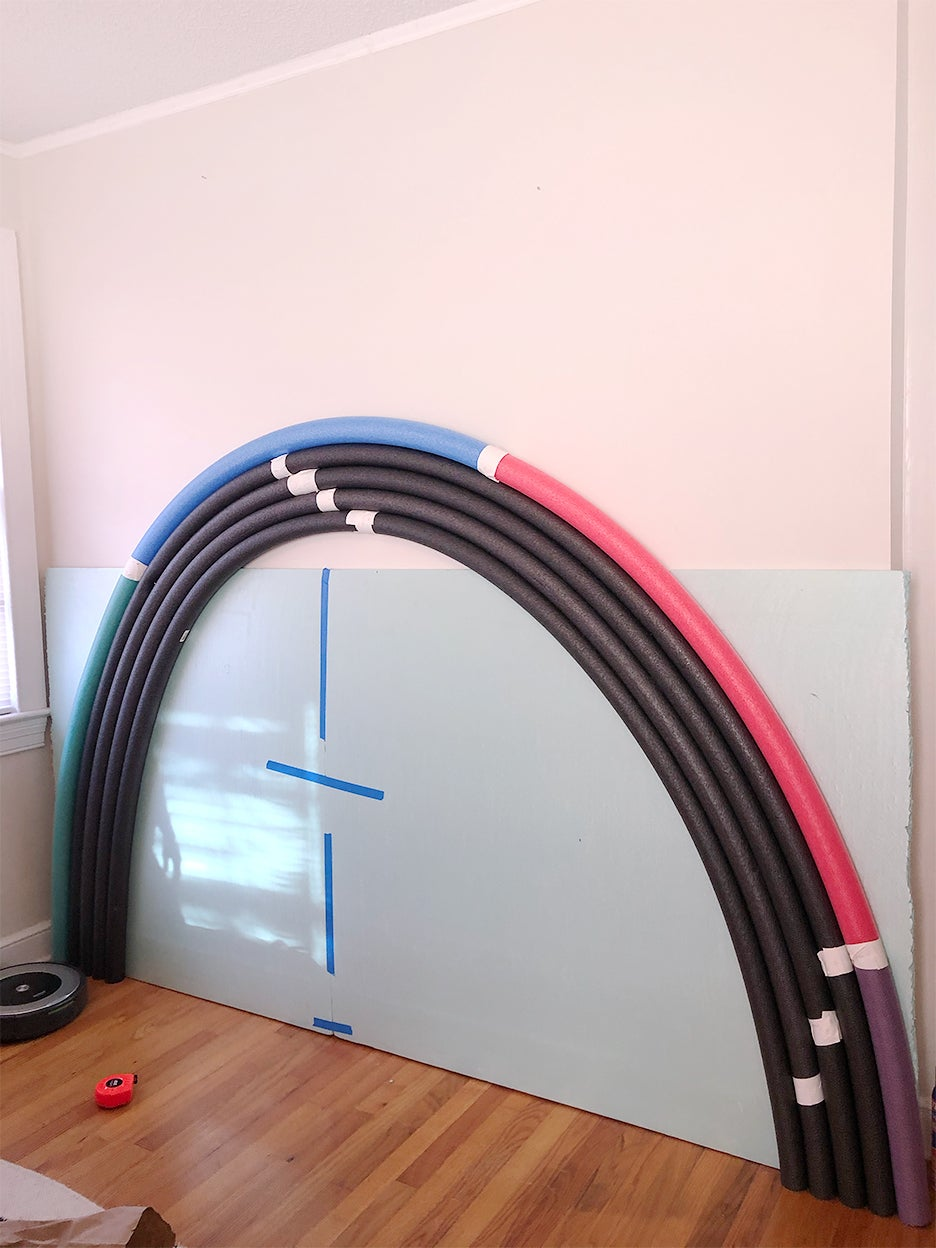 tubes taped on wall