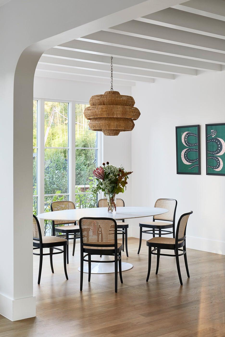 sun lit dining room