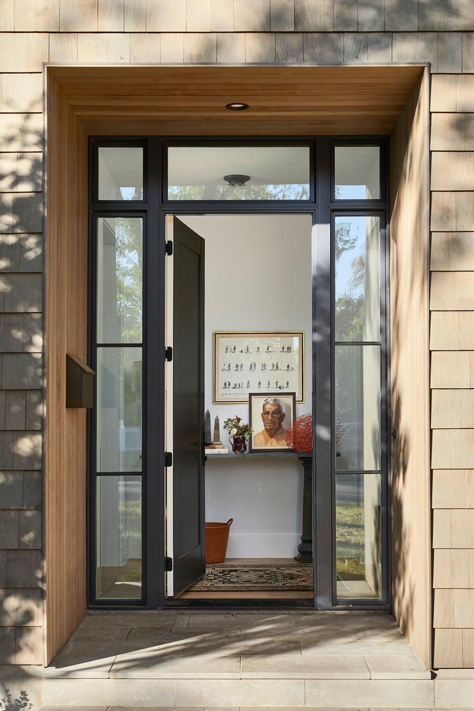glass front door opened up
