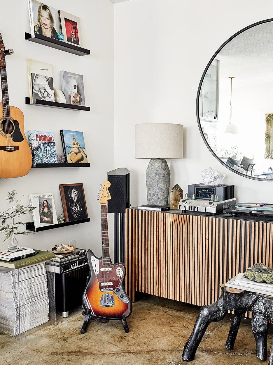 guitars in a living room