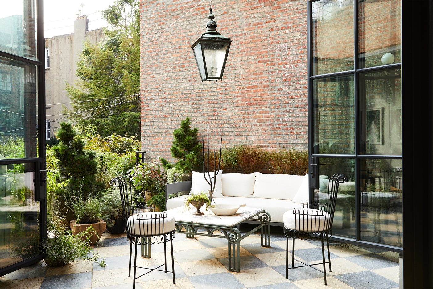 french inspired terrace