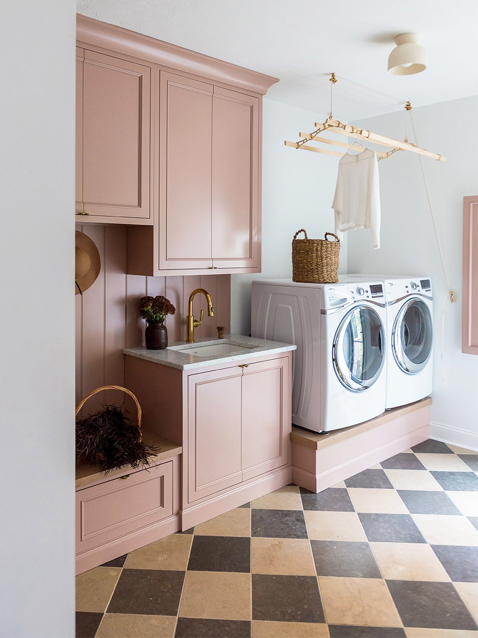 built in laundry machines