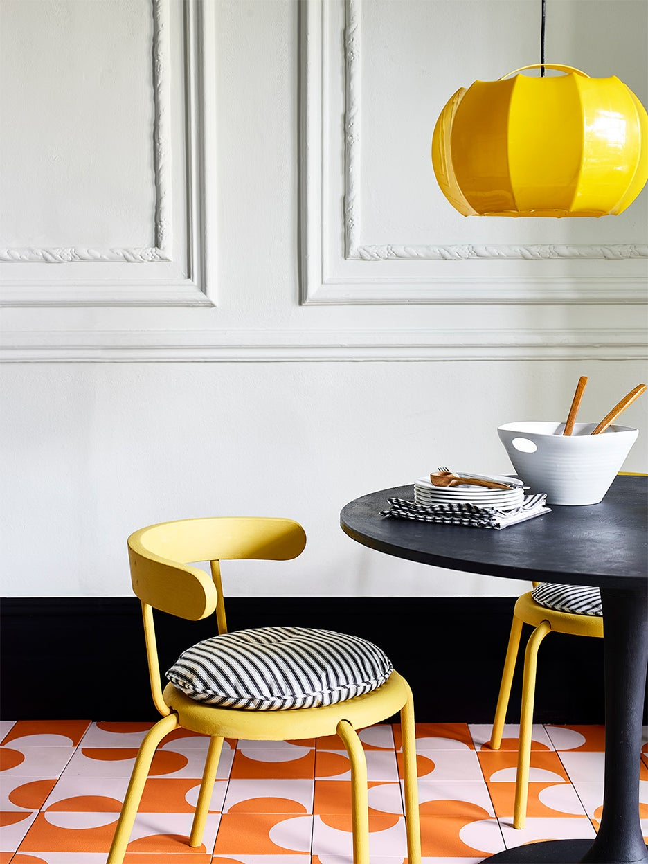 bright yellow dining chair