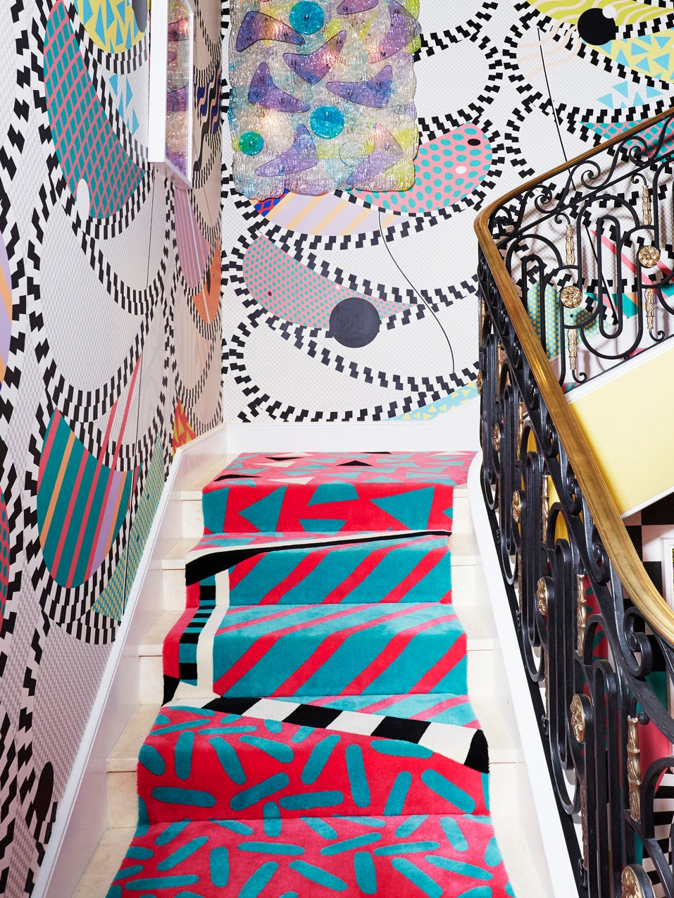 a memphis-styled staircase