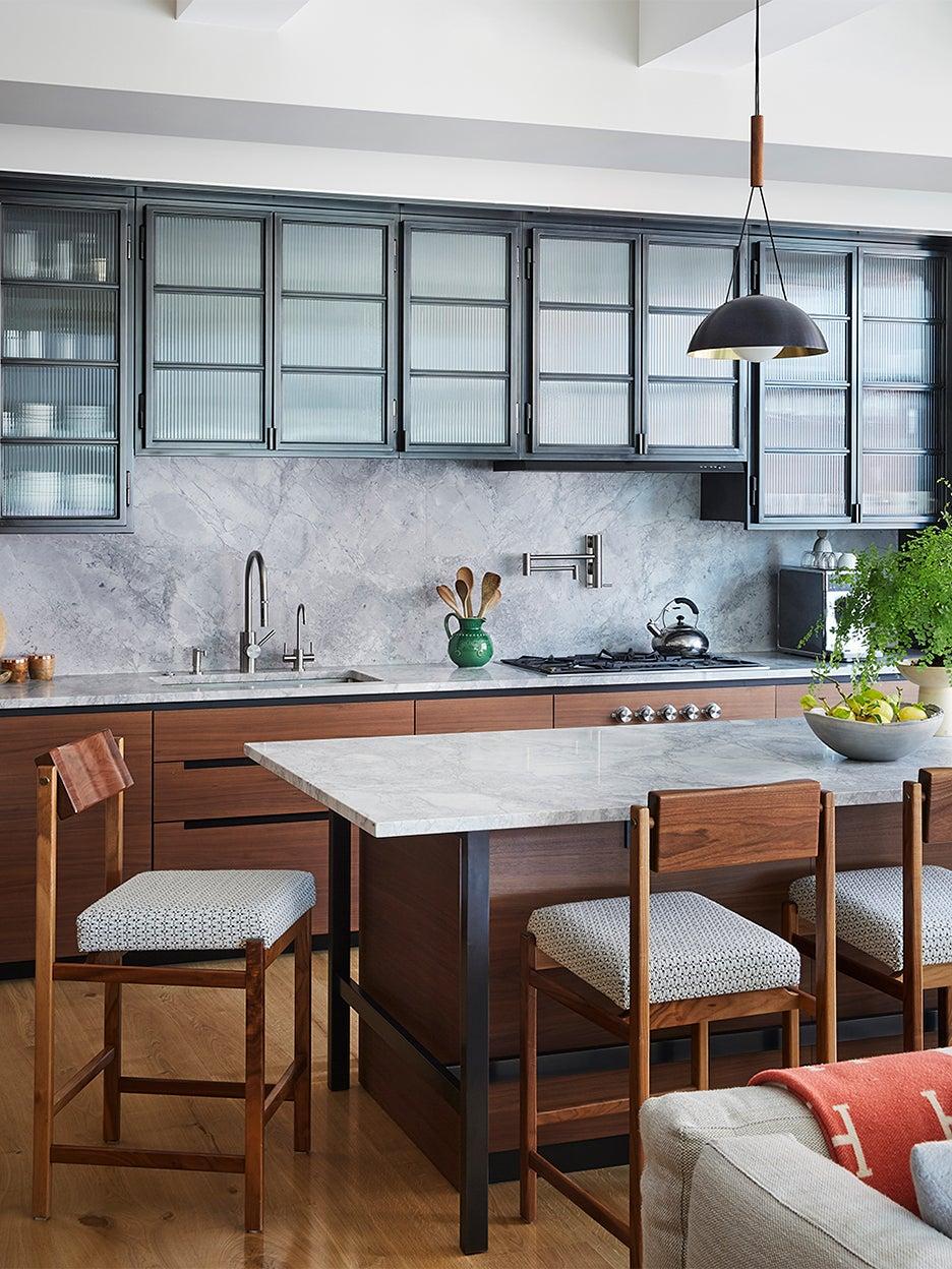 modern glass kitchen cabinets