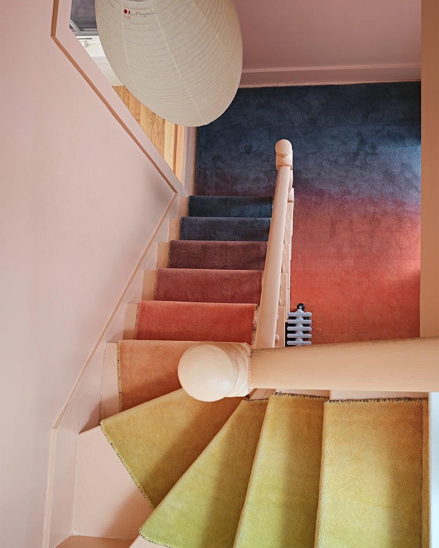 an ombre staircase