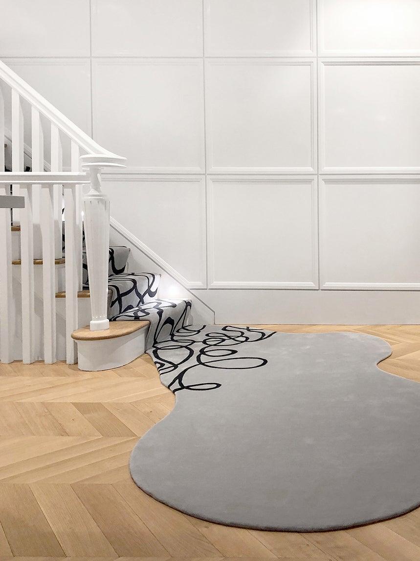 a custom spilling carpet
