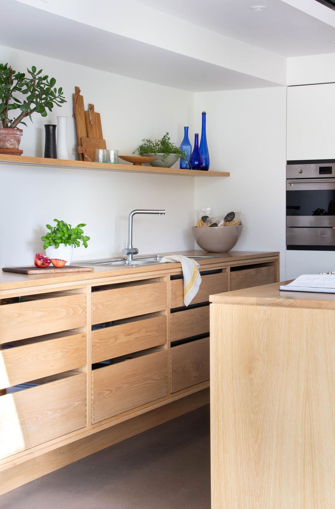 wood kitchen with all drawers