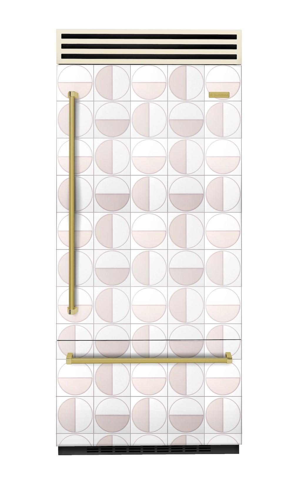 fridge covered in tiles