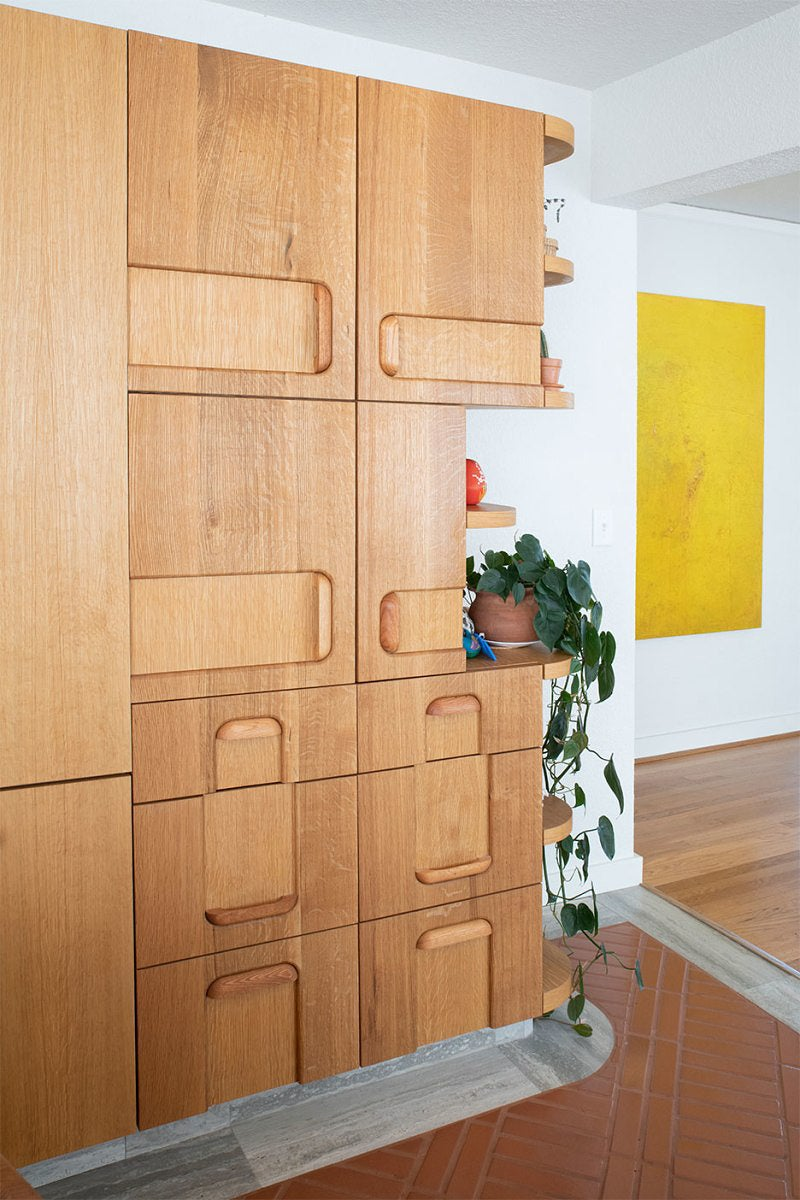 quirky wood cabinets
