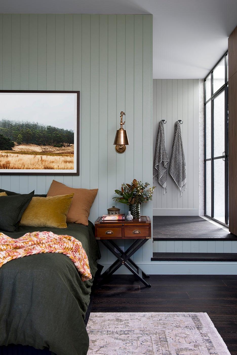 sage green bedroom walls