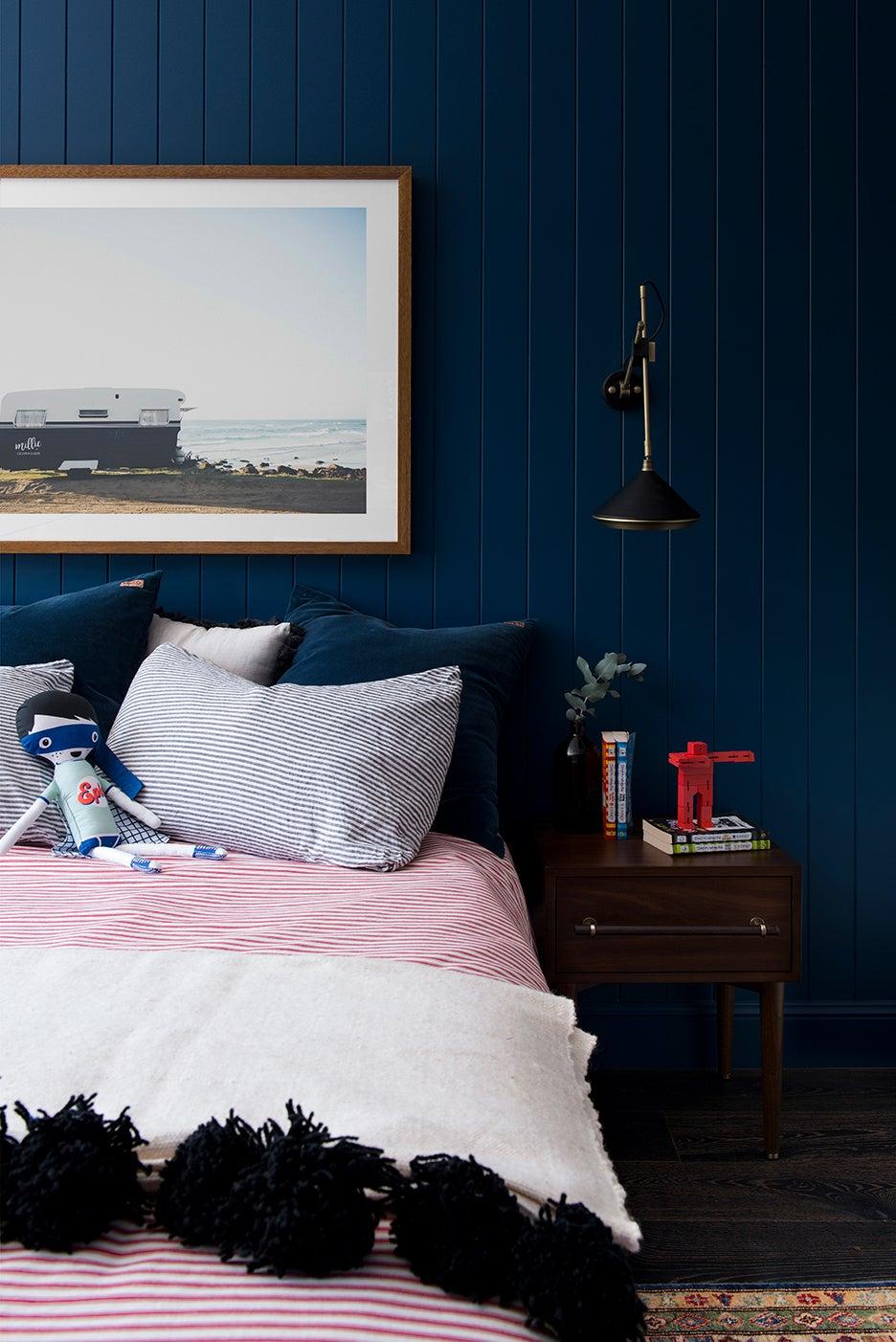 navy blue kids bedroom