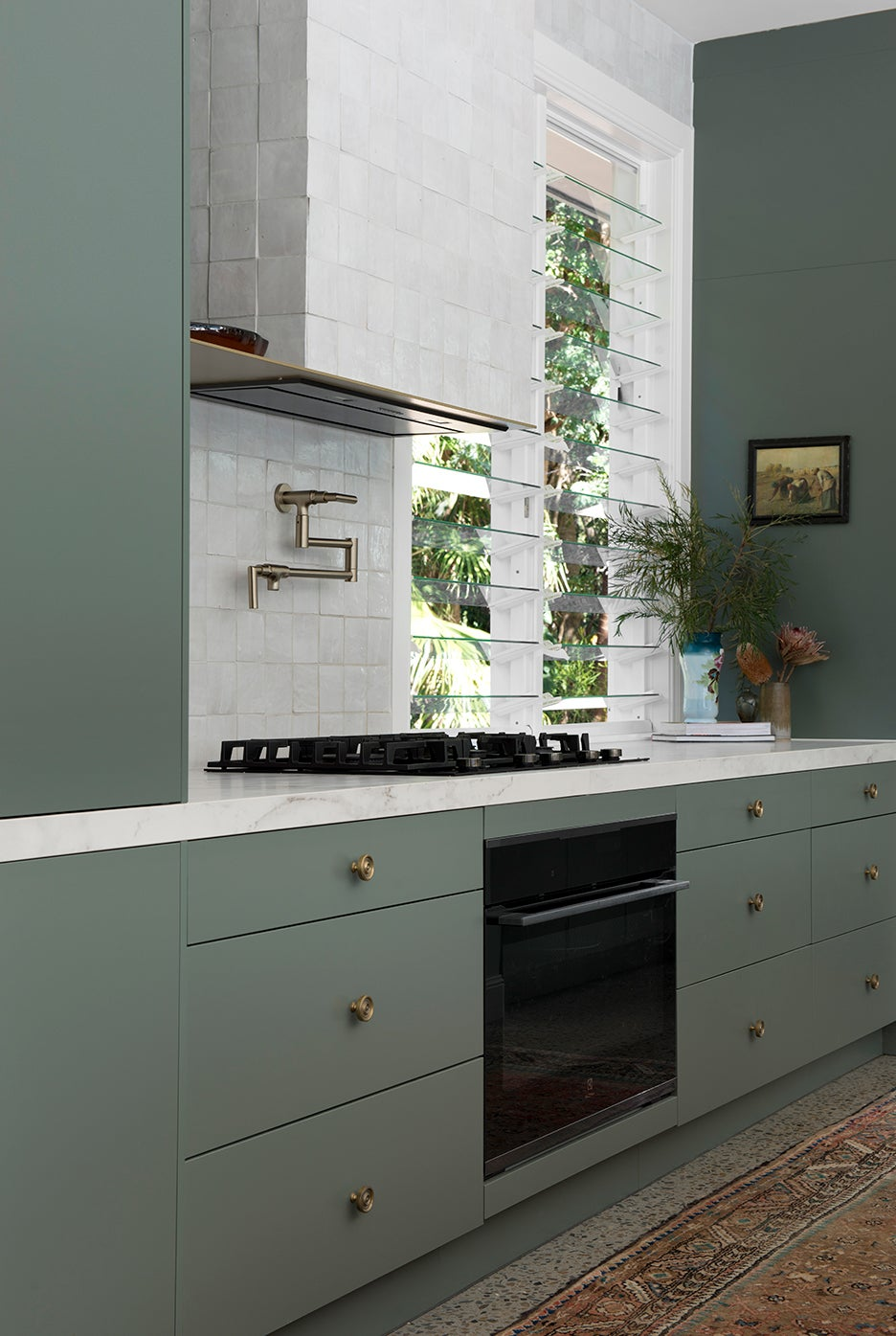 sage green cabinets