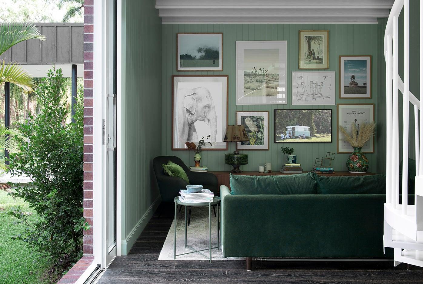 green TV room