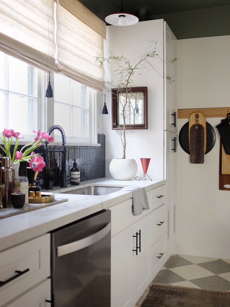 "Watch an L.A. designer take his tiny kitchen from ""Scaryville"" to chic"