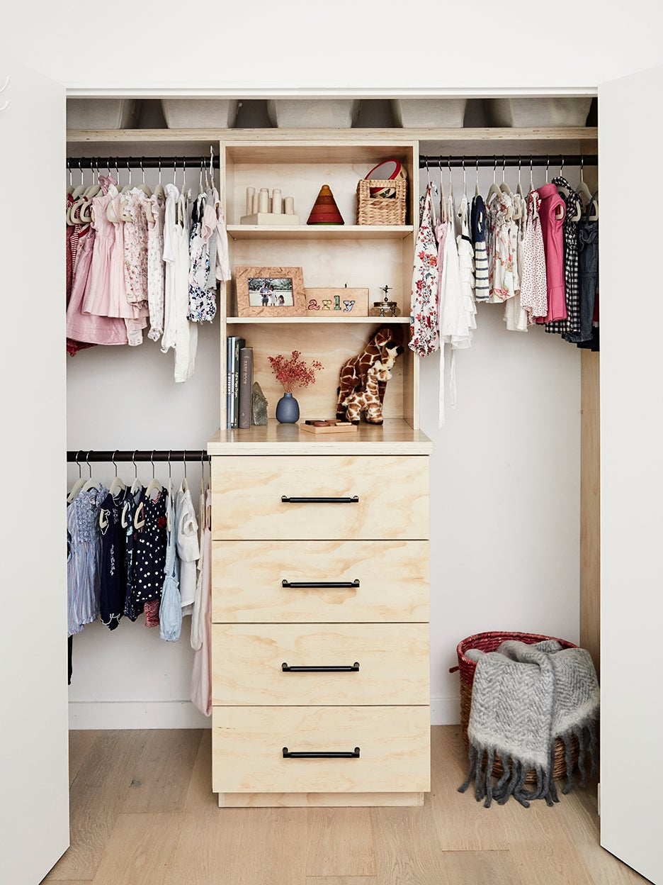 drawers in a closet
