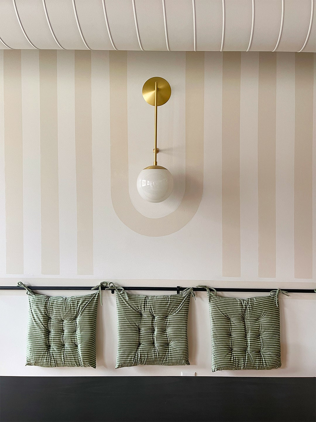 a striped wall paint treatment